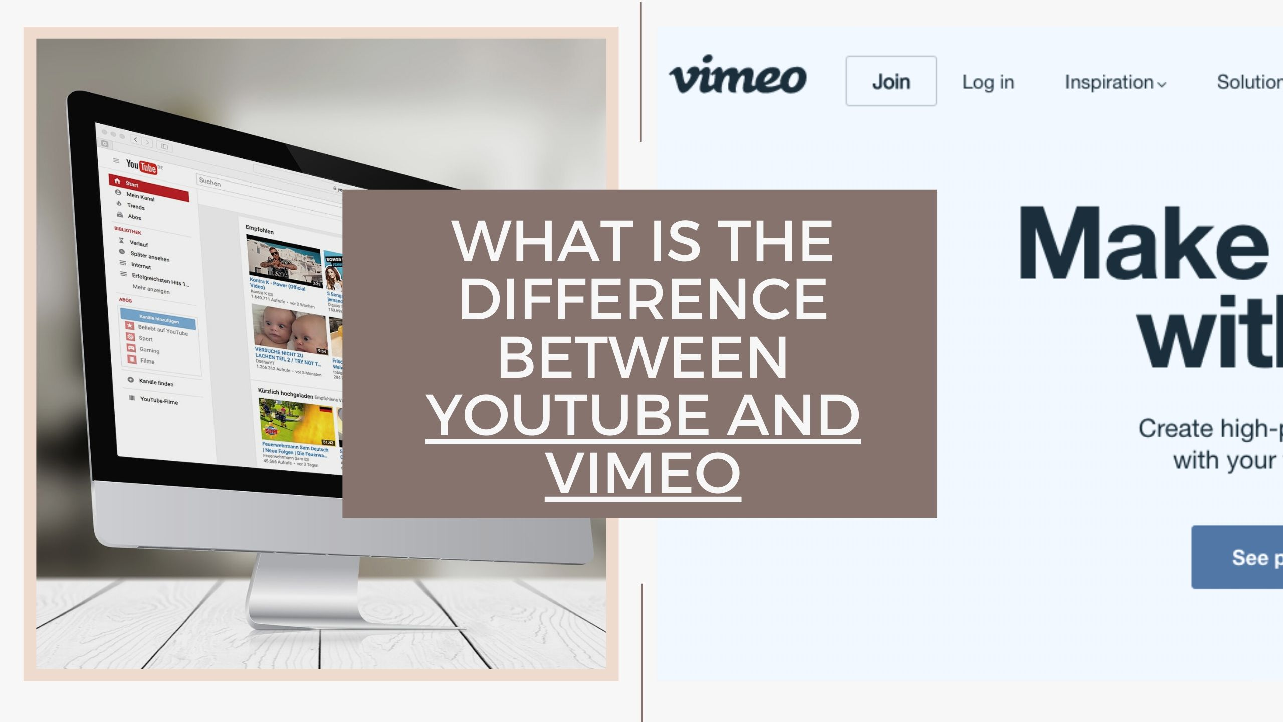 Difference Between Youtube and Vimeo