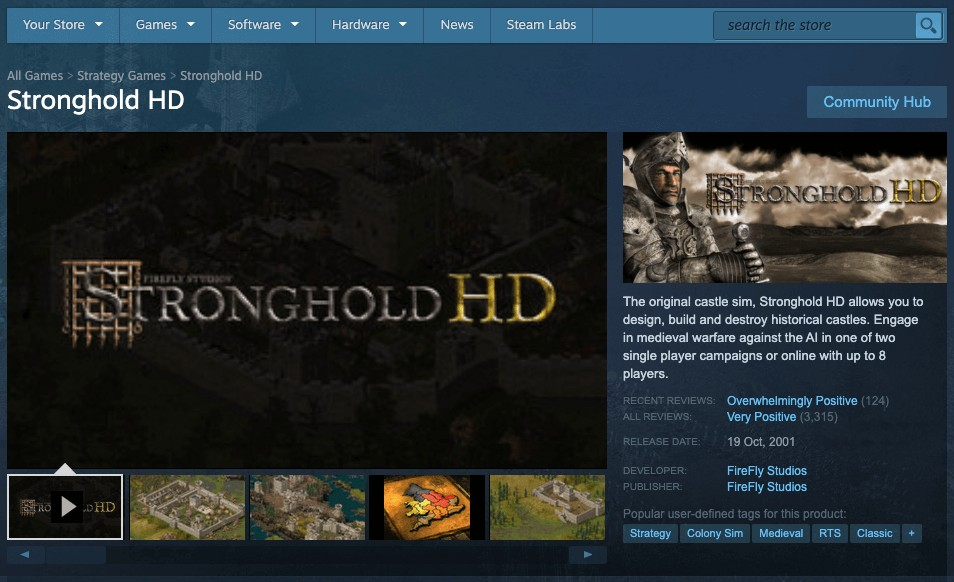 Games like Stronghold